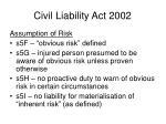 civil liability act 200219