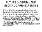 future hospital and medical care expenses