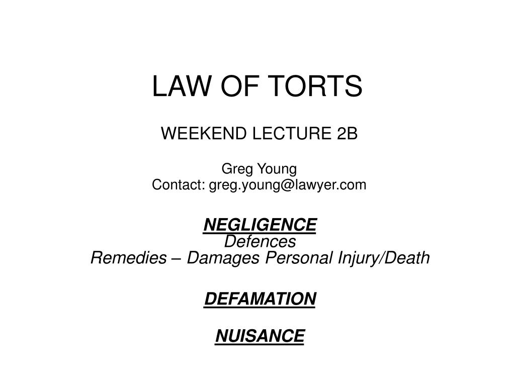 law of torts l.