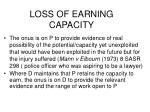 loss of earning capacity