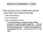 non economic loss