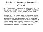 swain v waverley municipal council24