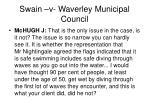 swain v waverley municipal council25