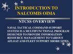 introduction to nalcomis oima21