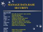 manage data base security26