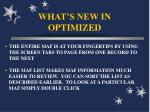 what s new in optimized6