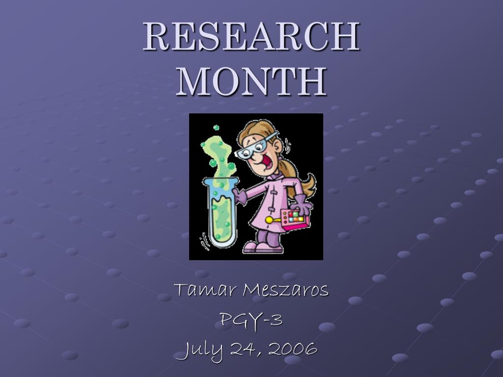 research month l.