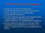 policy principles and objectives