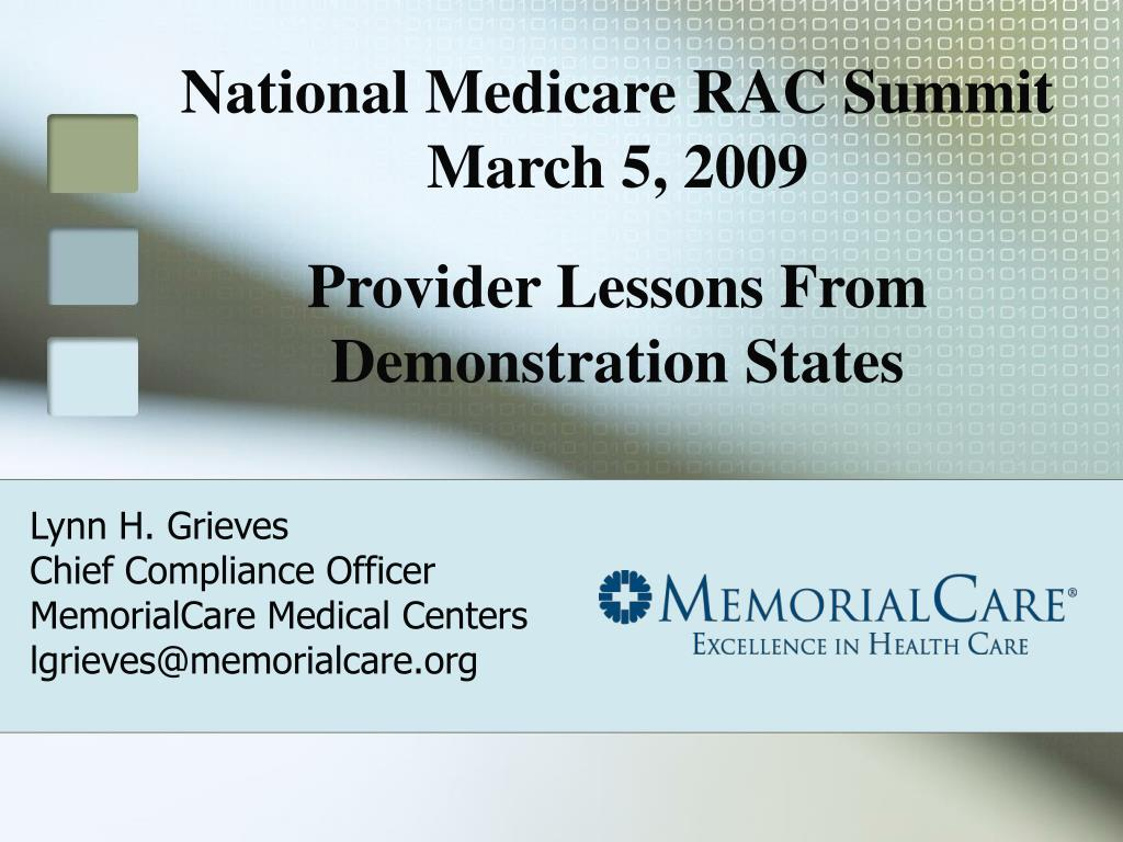 lynn h grieves chief compliance officer memorialcare medical centers lgrieves@memorialcare org l.