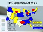 rac expansion schedule