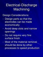 electrical discharge machining23