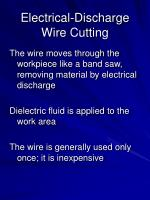 electrical discharge wire cutting