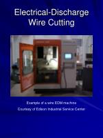 electrical discharge wire cutting27