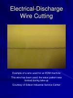 electrical discharge wire cutting29