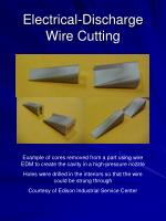 electrical discharge wire cutting30