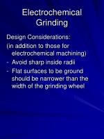 electrochemical grinding19