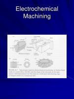 electrochemical machining14