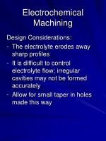 electrochemical machining15