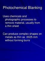photochemical blanking