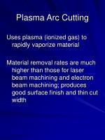 plasma arc cutting