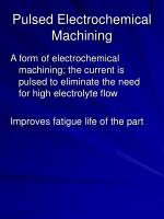 pulsed electrochemical machining