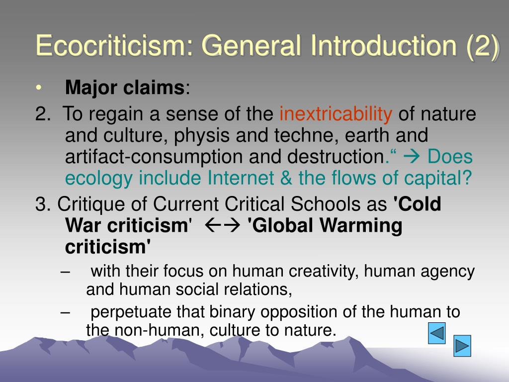 Ecocriticism: General Introduction (2)