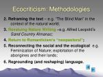 ecocriticism methodologies13