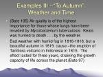examples iii to autumn weather and time37