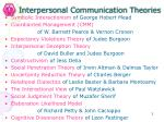 interpersonal communication theories