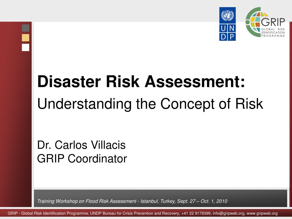 disaster risk assessment understanding the concept of risk l.