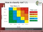 how to classify risk 1