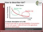 how to describe risk