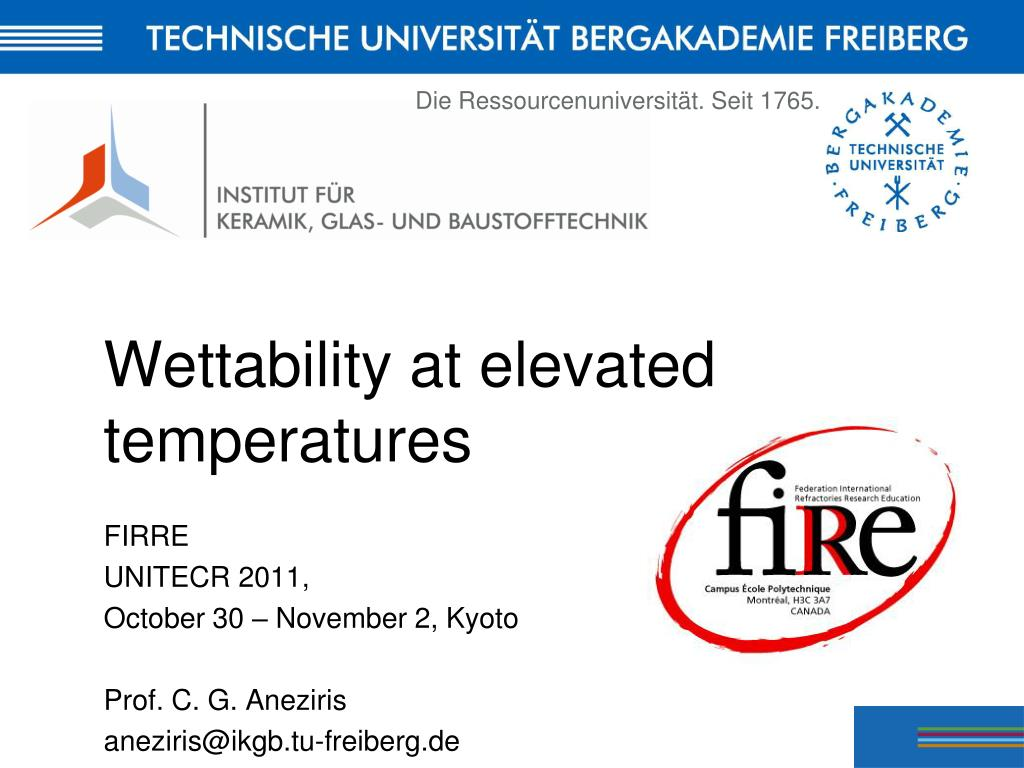 wettability at elevated temperatures l.