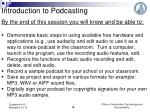 introduction to podcasting6