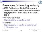 resources for learning audacity