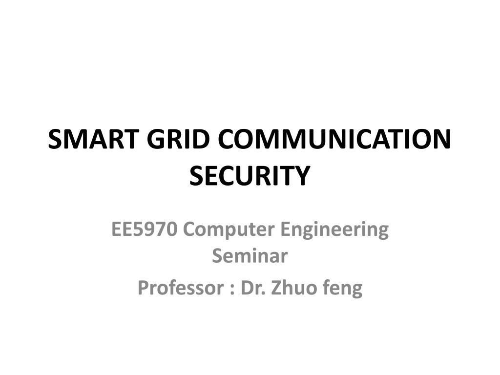 smart grid communication security l.