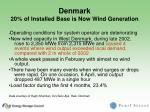 denmark 20 of installed base is now wind generation