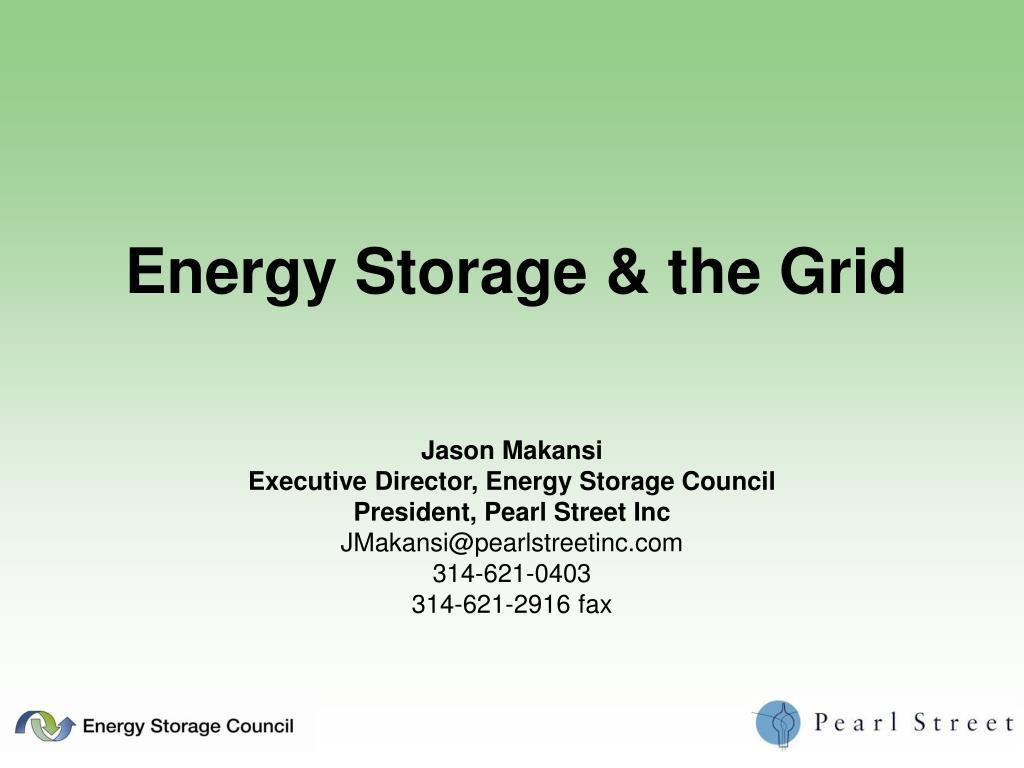 energy storage the grid l.