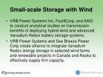 small scale storage with wind
