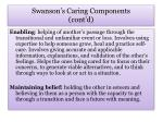 swanson s caring components cont d