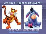 are you a tigger or an eeyore