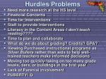 hurdles problems