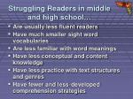 struggling readers in middle and high school