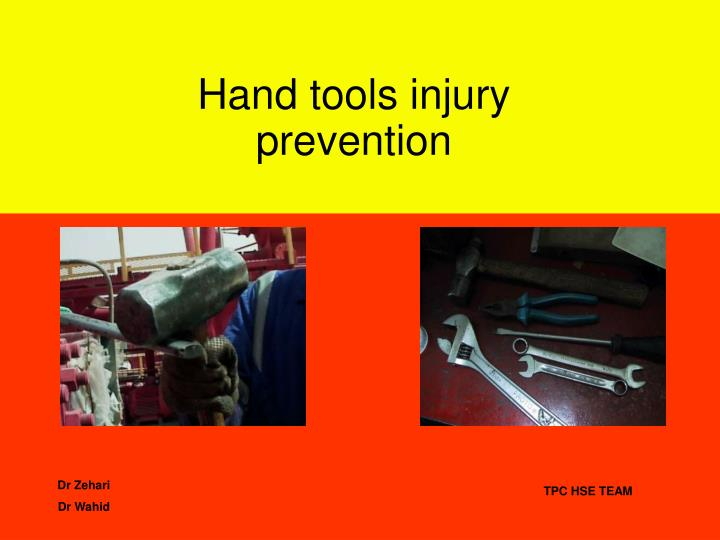 hand tools injury prevention n.