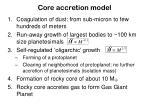 core accretion model