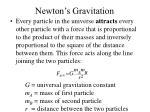 newton s gravitation