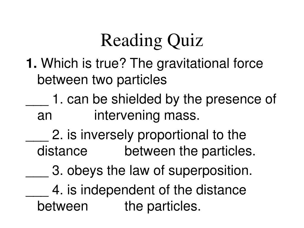reading quiz l.