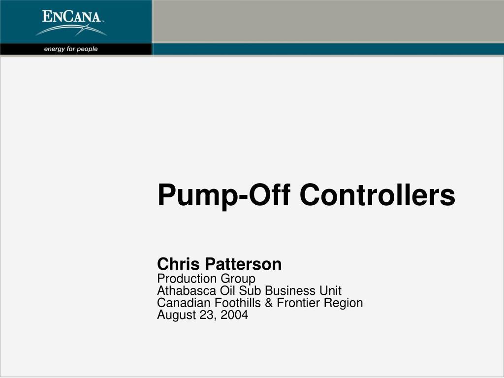 pump off controllers l.