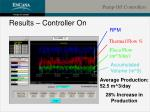 results controller on