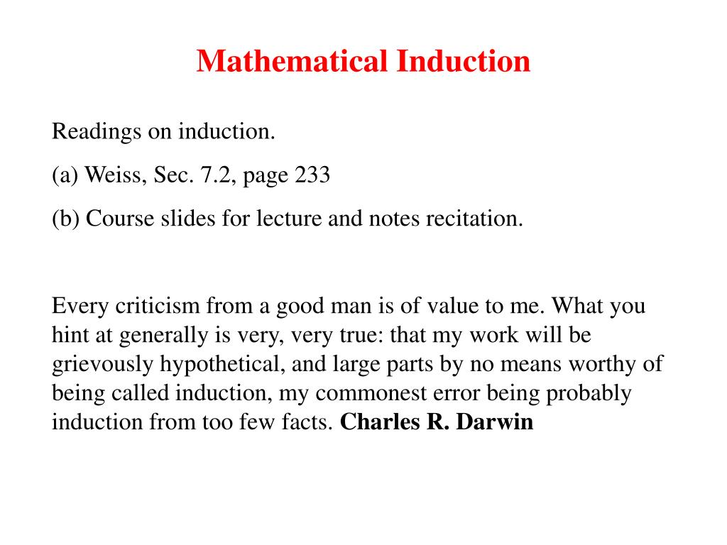 mathematical induction l.